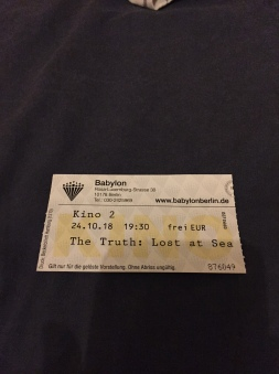 One of the first cinema tickets ever issued for the film.