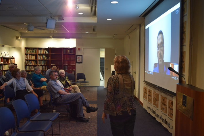 Despite the 7 hour time difference, this Skype video conference with the Washington DC audience would be the first of many conducted with audiences in other countries also.