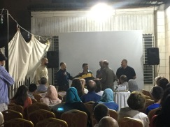 The world premiere included a reunion of numerous Freedom Flotilla survivors.